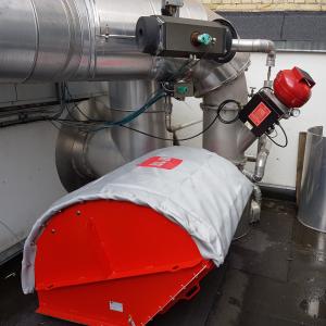 Eksplosionsundertrykkelse og IQR flammeløs aflastning: Installeret