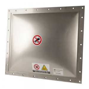 Explosion panel dome-shaped vacuum square - product image 1