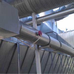 Gnistdetektor(SDN): Monteret på udendørs kanal