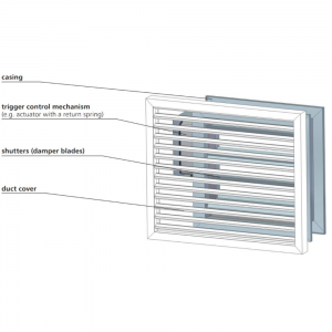 Multiblads transfer brandspjæld til generel ventilation: Model WIP/T & WIP/T-G - Design Illustration
