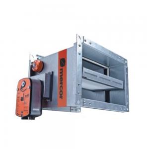 Enkeltblads lavmodstands cut-off brandspjæld til komfortventilation: Model S/S c/P - Produktbillede 2