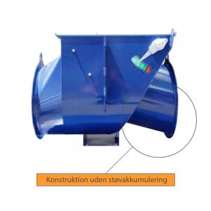 VigiFlap - Kontraventil til eksplosionsisolering: Konstruktion uden støvakkumulering - Safevent