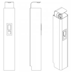 Inergenanlæg til brandbeskyttelse i små lokaler: Skitse
