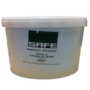 HYDROSAFE: Fyldemasse til brandbeskyttelse - Produktbillede. Safevent